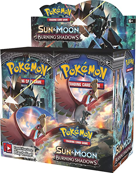 Pokemon Card Game Burning Shadows Trainer Box Card Sleeves