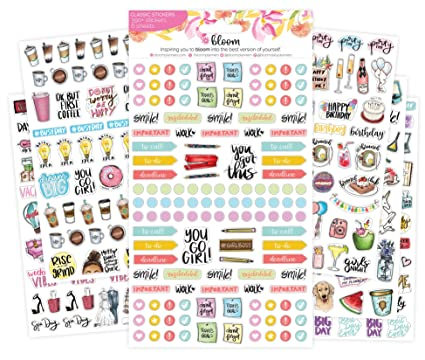 amazon com bloom daily planners new classic planner sticker sheets
