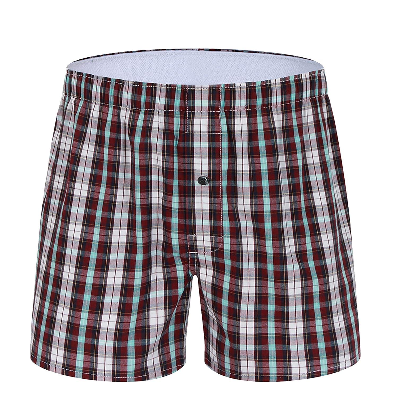 M MOACC Mens 100/% Cotton Woven Boxer Shorts Pack