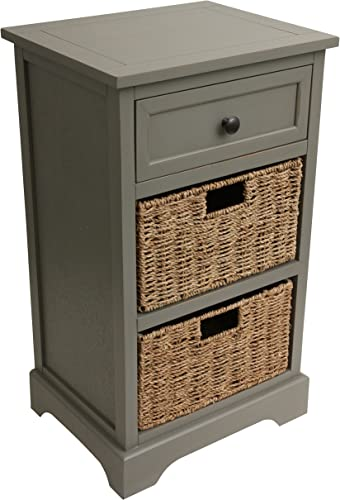 D cor Therapy End Table, Antique Gray