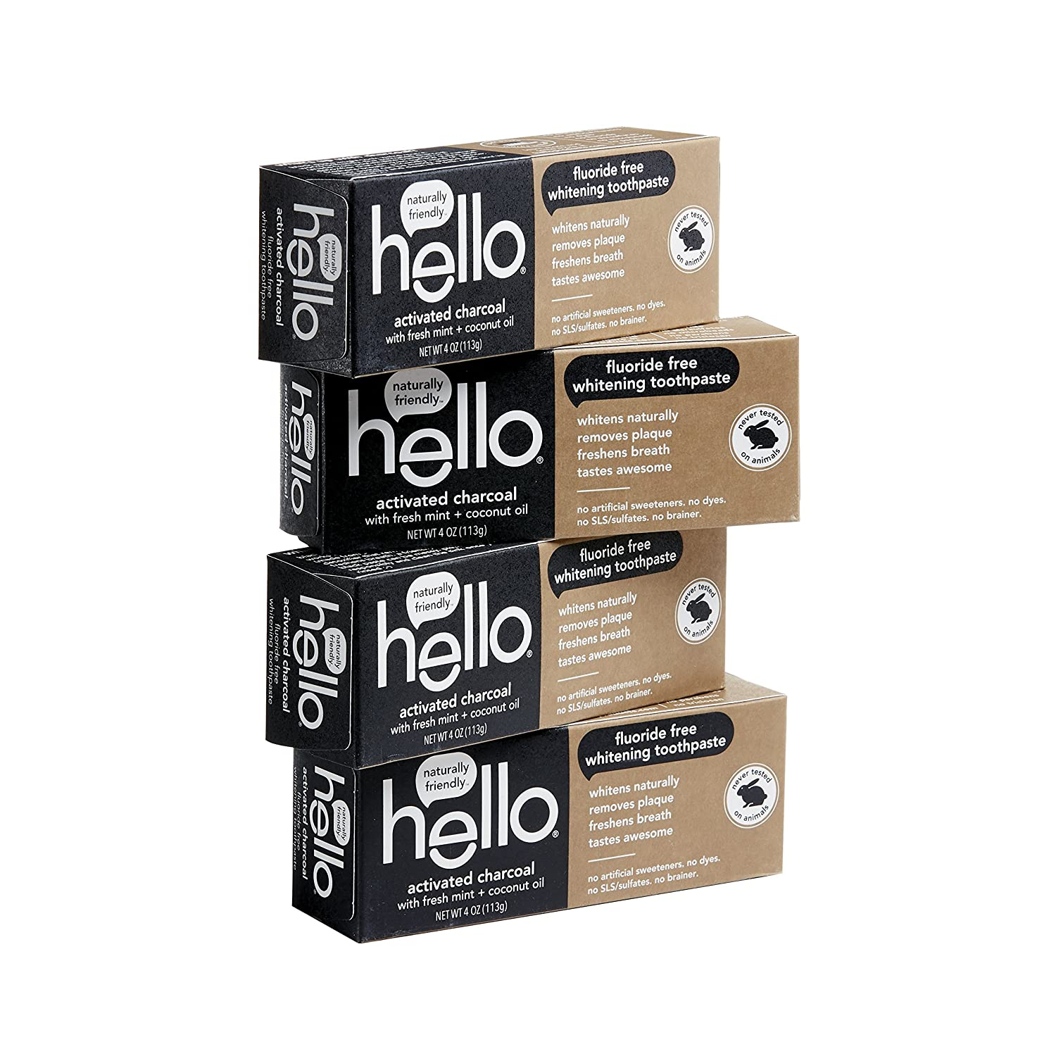Amazon Com Hello Oral Care Activated Charcoal Teeth Whitening