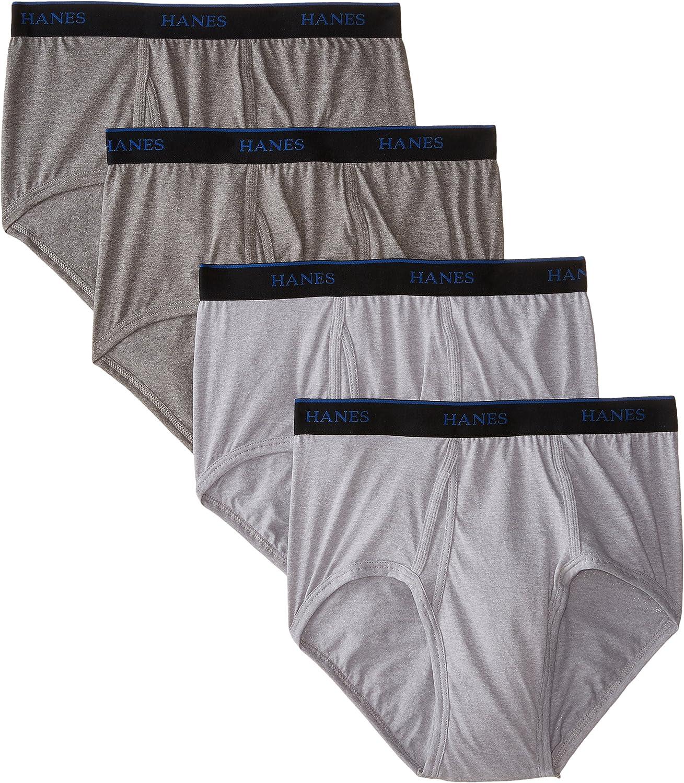 4-Pack Hanes Big /& Tall Mens Fresh IQ Brief Black//Grey