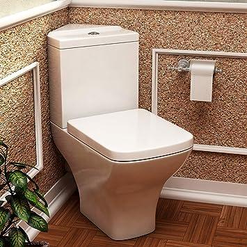 Keramik WC Toilette Ecke Softclose WC-Sitz Badezimmer Schwarz//Weiß Wasser Sparen