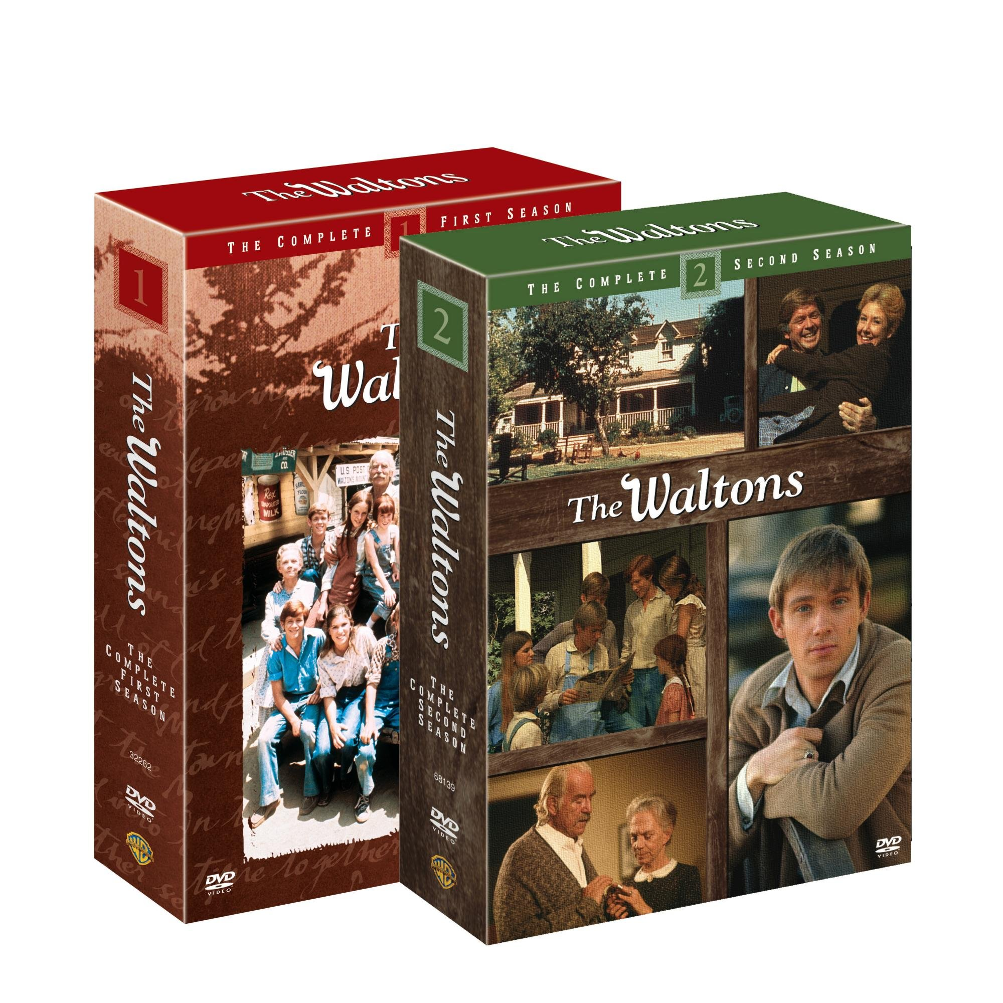 DVD : The Waltons: The Complete Seasons 1 & 2 (Shrink Wrapped, Boxed Set, Side By Side Packaging, Repackaged, 2 Pack)