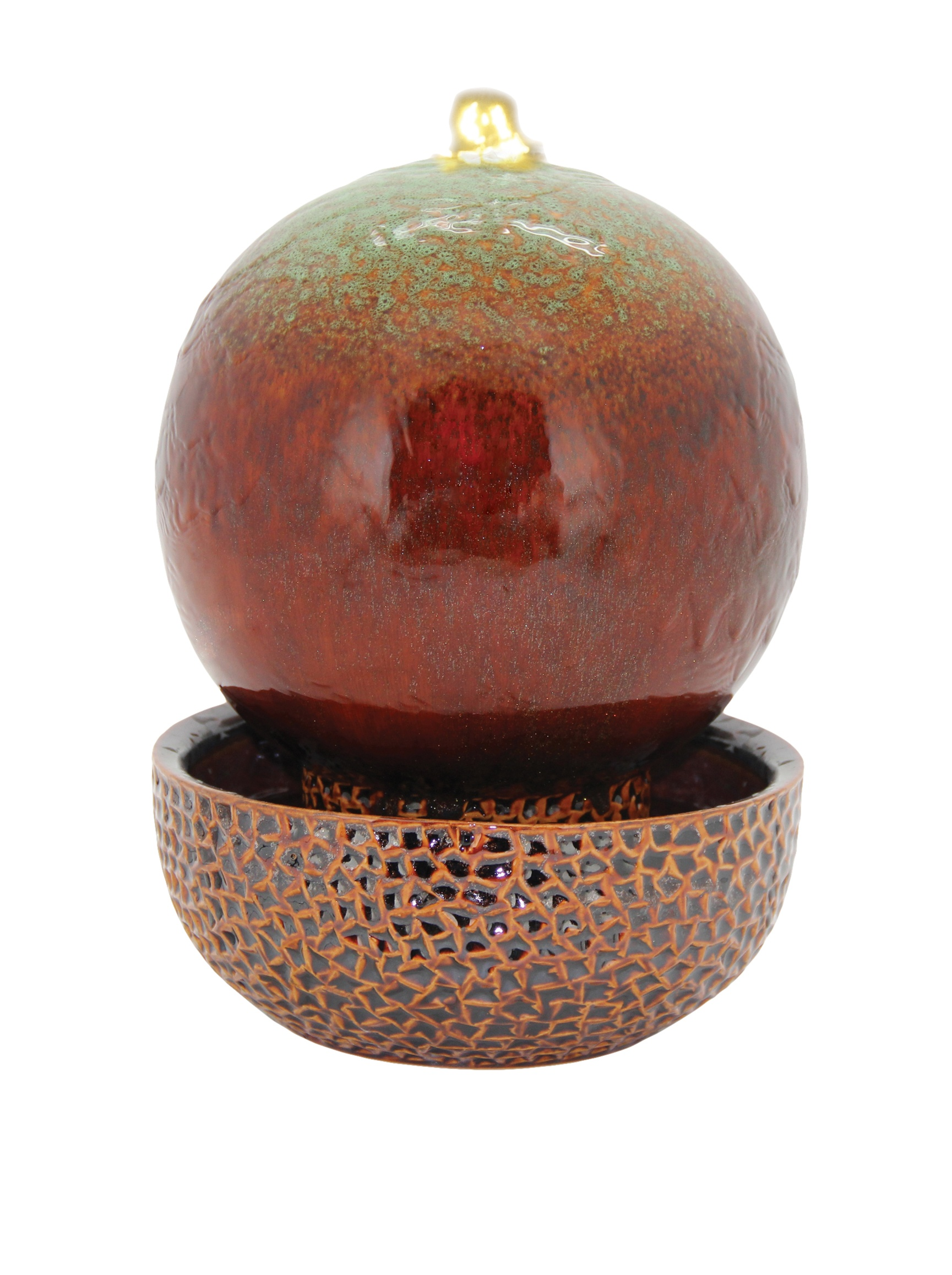 Pacific Decor White LED Globe Fountain, 11-Inch, Green/Brown by Pacific Décor