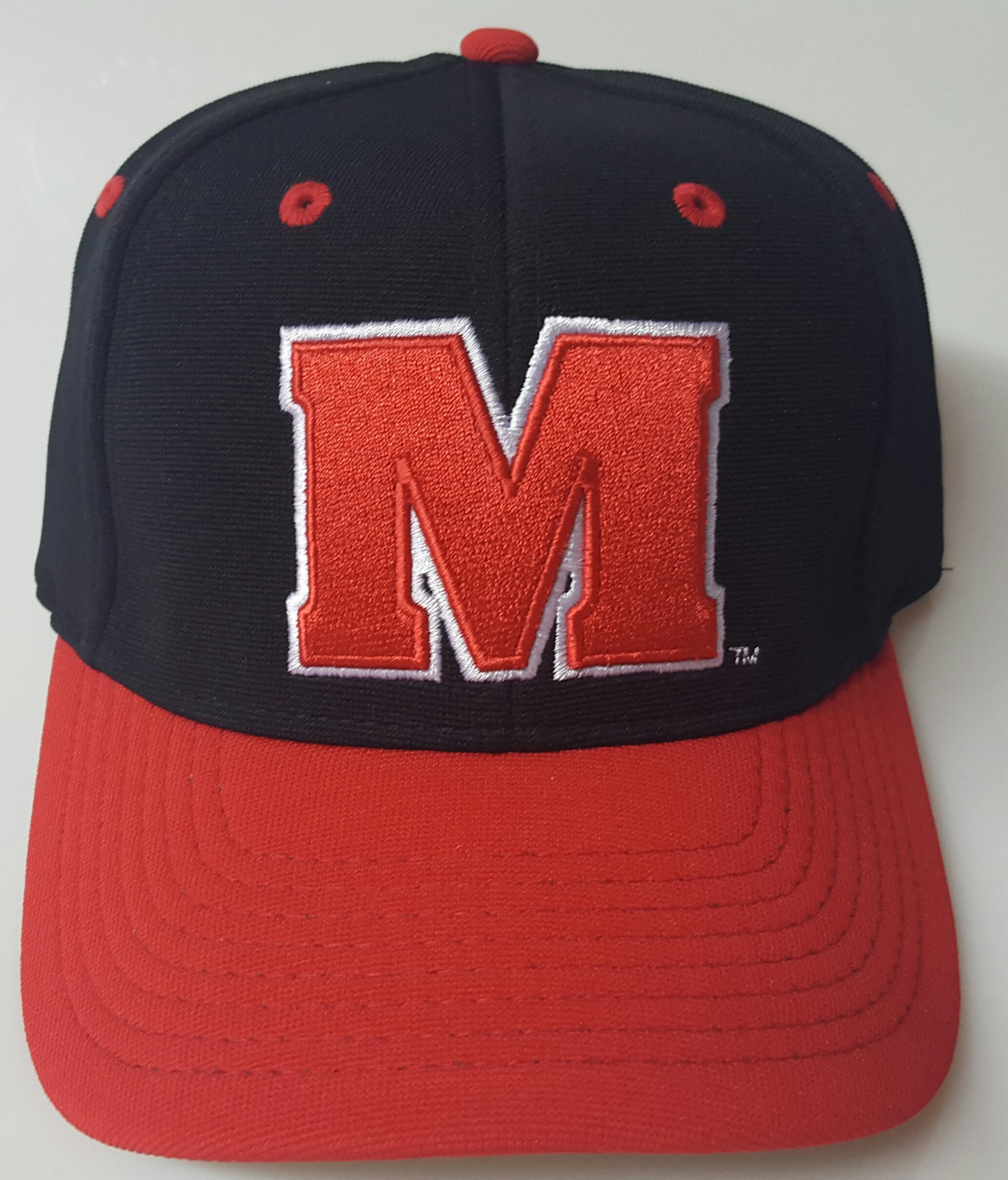 NCAA New Maryland Terps Embroidered Red & Black Velcro Cap