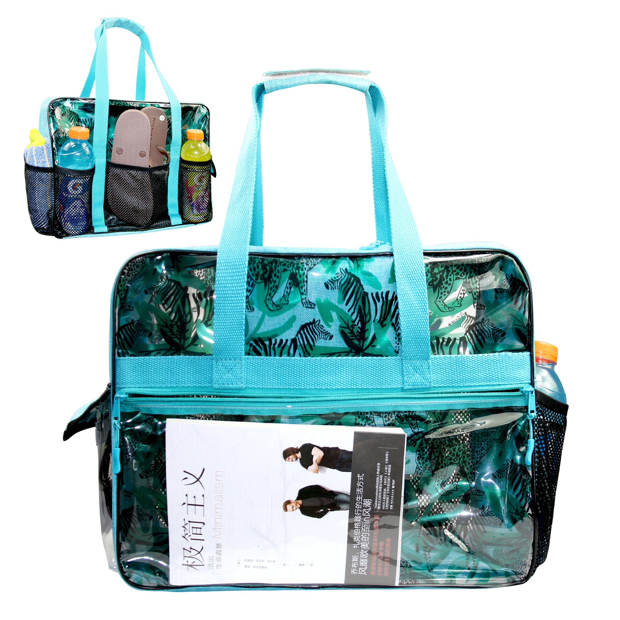 Beach Bag with Multi Pockets Extra Large Waterproof Utility Beach Tote for Women
