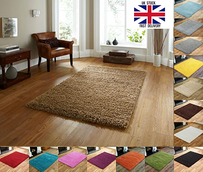 Everest 5cm Thick Pile Shaggy Modern Area Rugs Small To Large Rugs Floor Living Room Hall Bedroom Rugs Rugs Rug Runners Beige Small Mat 40 X 60cm 1ft 3 X 1ft 11
