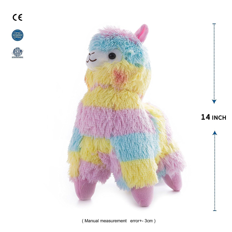 3f0edbe36825 Amazon.com  WEWILL Rainbow Alpaca Stuffed Animals Adorable Colorful ...