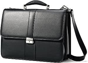 Samsonite Leather Flapover Case, Black