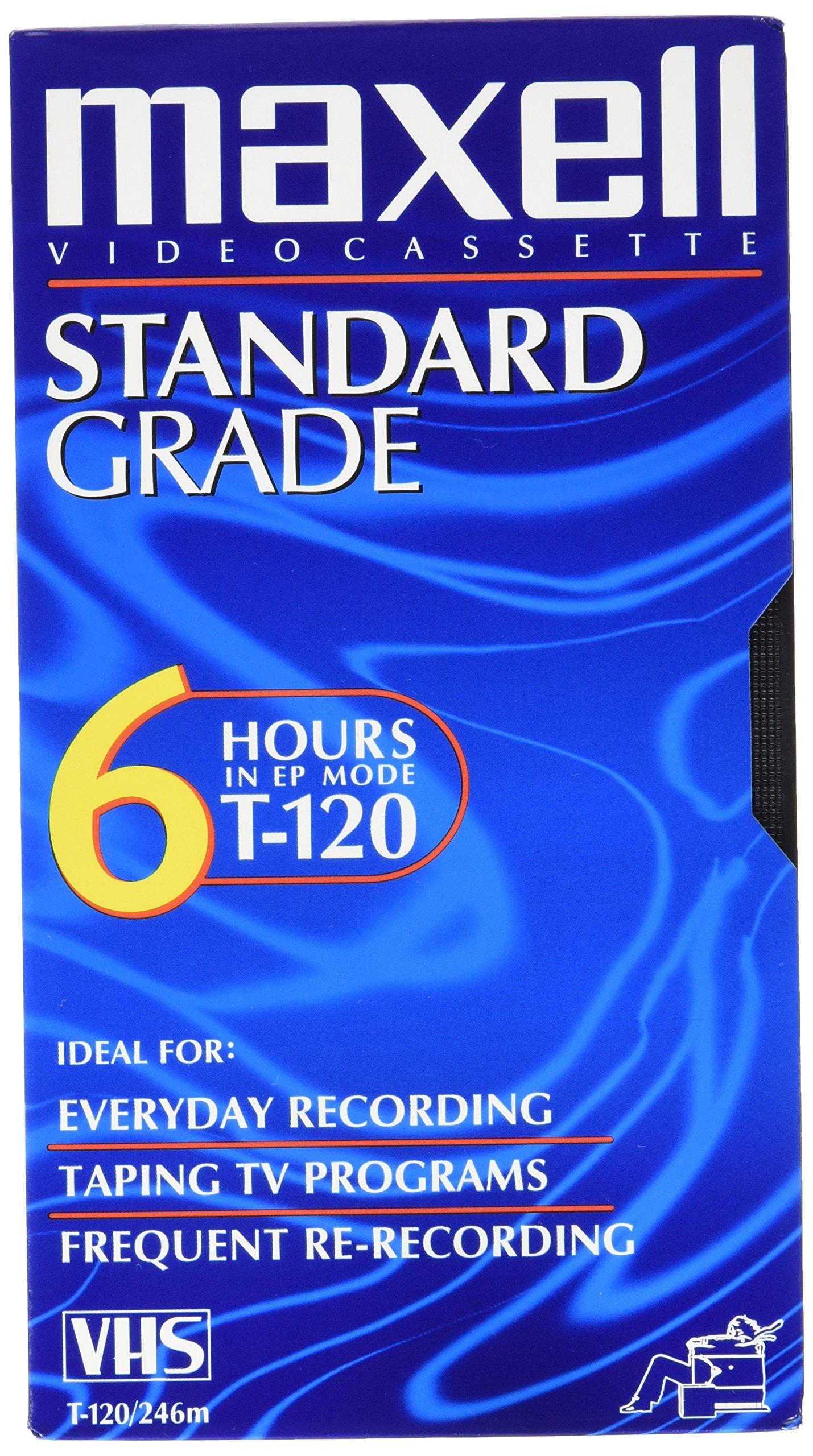 12 Pack All-Purpose Standard Grade 6 Hour VHS Videotape Cassette by MAXELL (Catalog Category: Presentations & Meeting Supplies / Audio Visual)