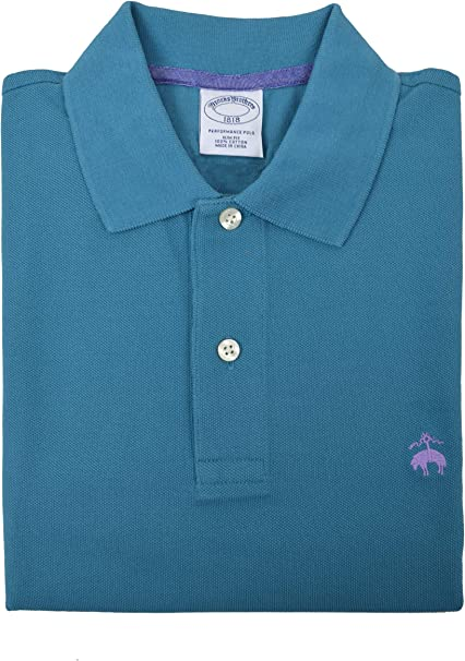 Brooks Brothers - Polo de piqué para hombre, color azul y verde ...