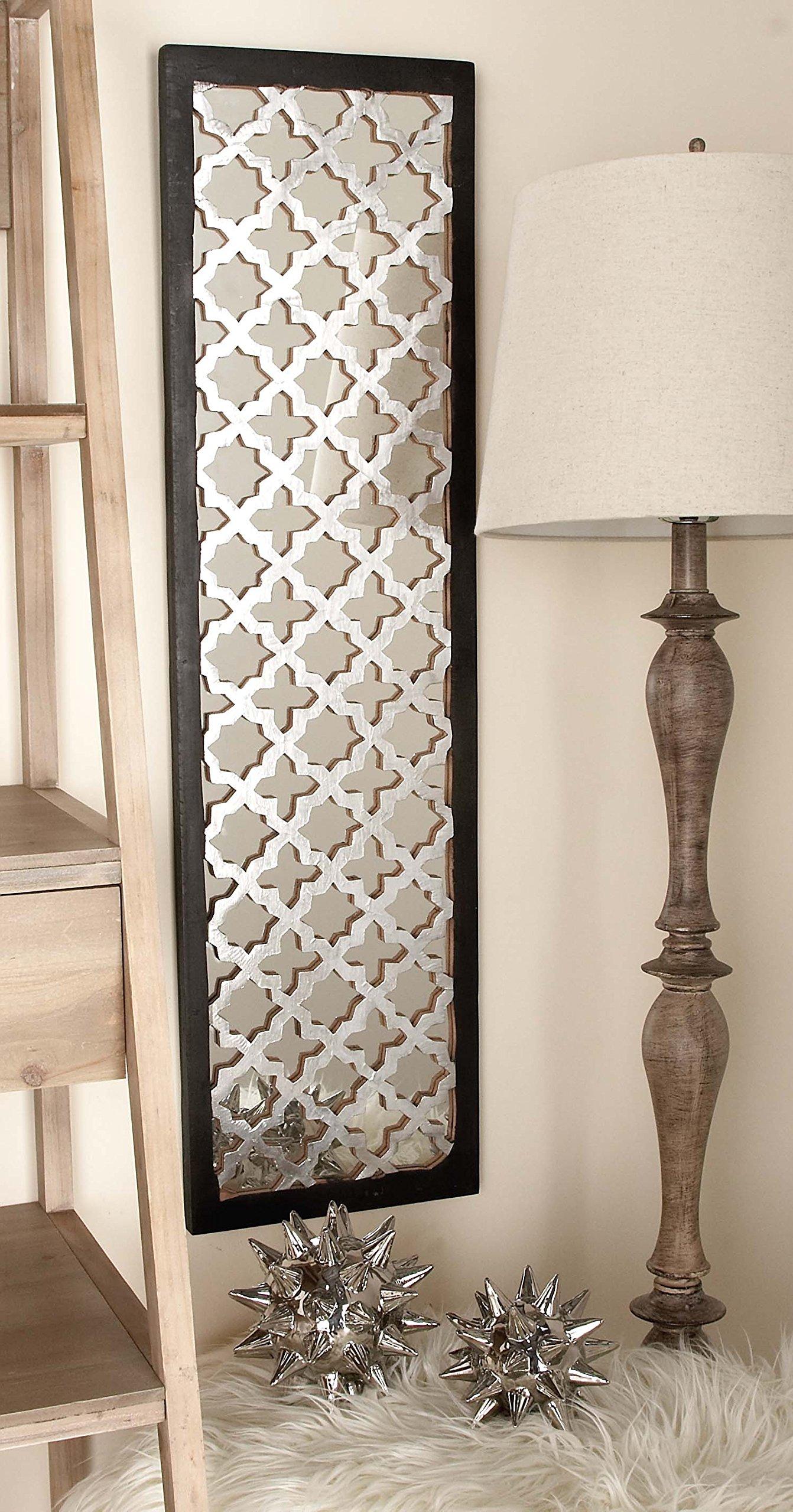 Deco 79 Wood Metal Mirror Panel 2 Assorted 12''W, 44''H