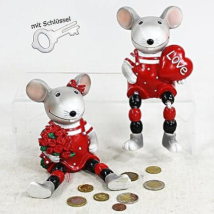 Bajo Figura Amor Ratón Corazón con peluche (patas y llave