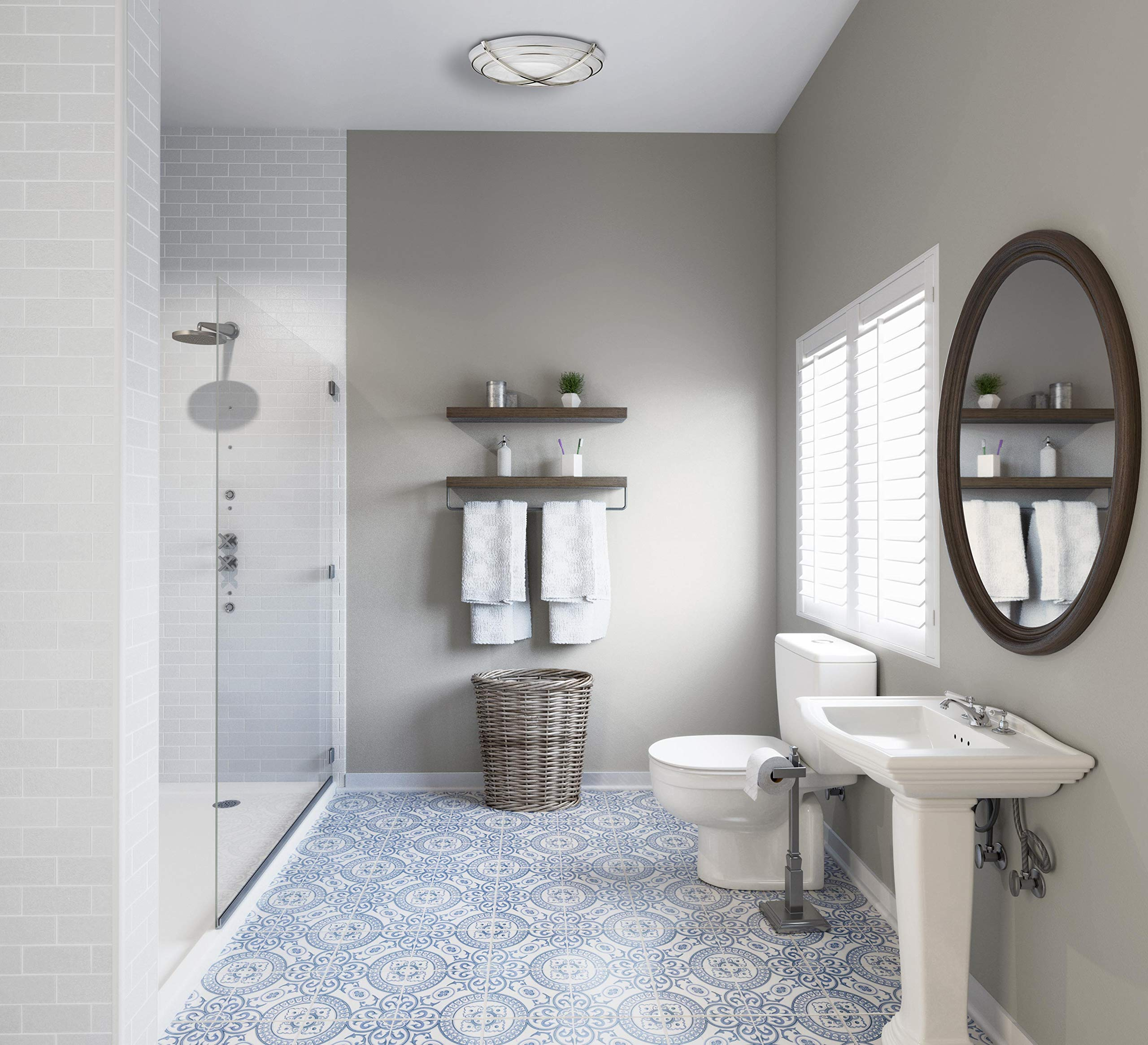 Hunter 81030 Halcyon Bathroom Exhaust Fan and Light in Contemporary Cast Chrome by Hunter Home Comfort (Image #10)