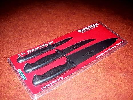 Amazon.com: Juego de cuchillos 3pc Diamont por Tramontina ...