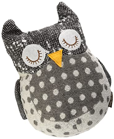 One For Pets The World S Cutest Fabric Door Stop Large Owl Amazon In Pet Supplies
