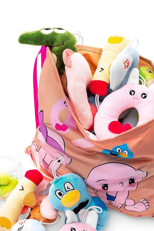 KLASSMIX STROLLER CAR SEAT TOYS for Baby Boy /& Girl Activity Organic Plush for