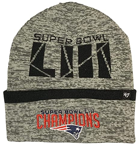 9716e5a8598 Image Unavailable. Image not available for. Color   47 New England Patriots  Superbowl Champions Birch Cuff Knit Beanie