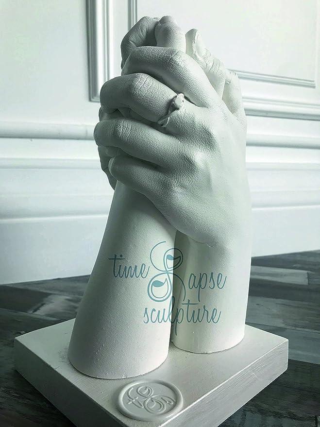 Kit de Molde de Mano, Material de Molde de Mano, 600 g de Alginato + 1.500 g de yeso de cerámica blanca, adecuado para colar hasta 3 manos: Amazon.es: Hogar