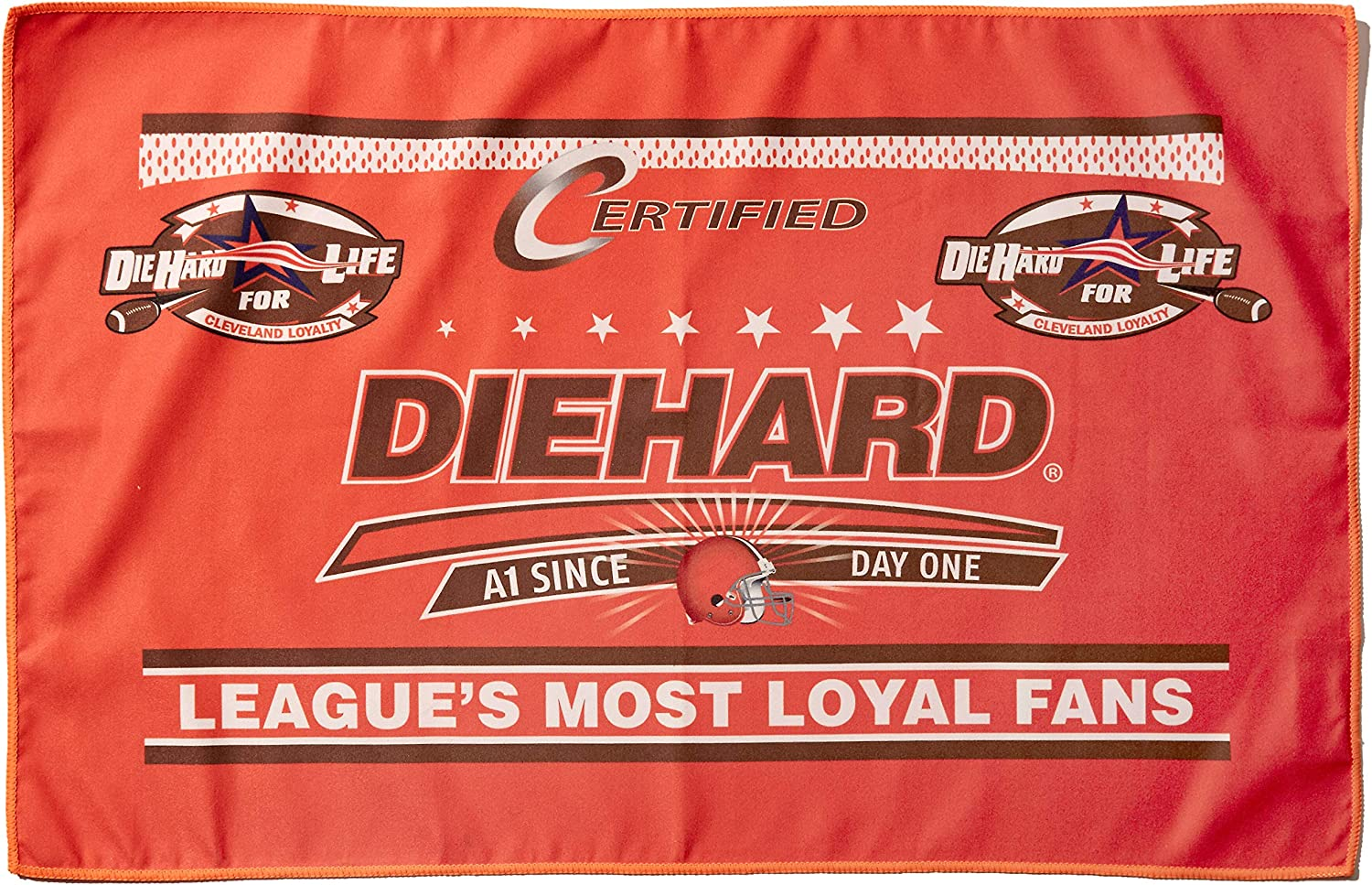 Sports Collectibles Cleveland Browns DieHard Fan Towel Omeri