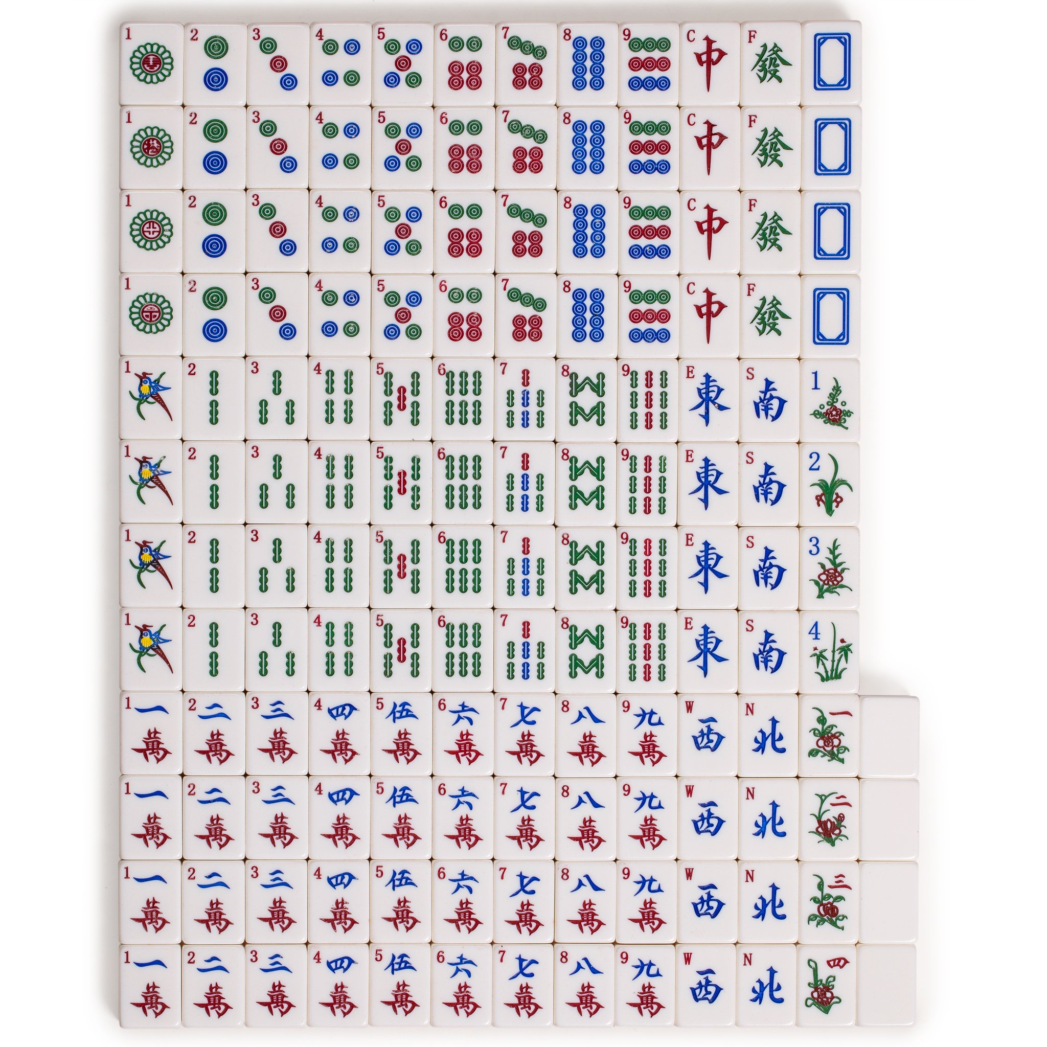 Yellow Mountain Imports Chinese Mahjong Set, Champagne Gold - with Wood Veneer Case - Medium Size Tiles: 1.3 x 1 x 0.7 inches (34mm x 25mm x 19mm) - for Chinese Style Gameplay Only by Yellow Mountain Imports (Image #7)