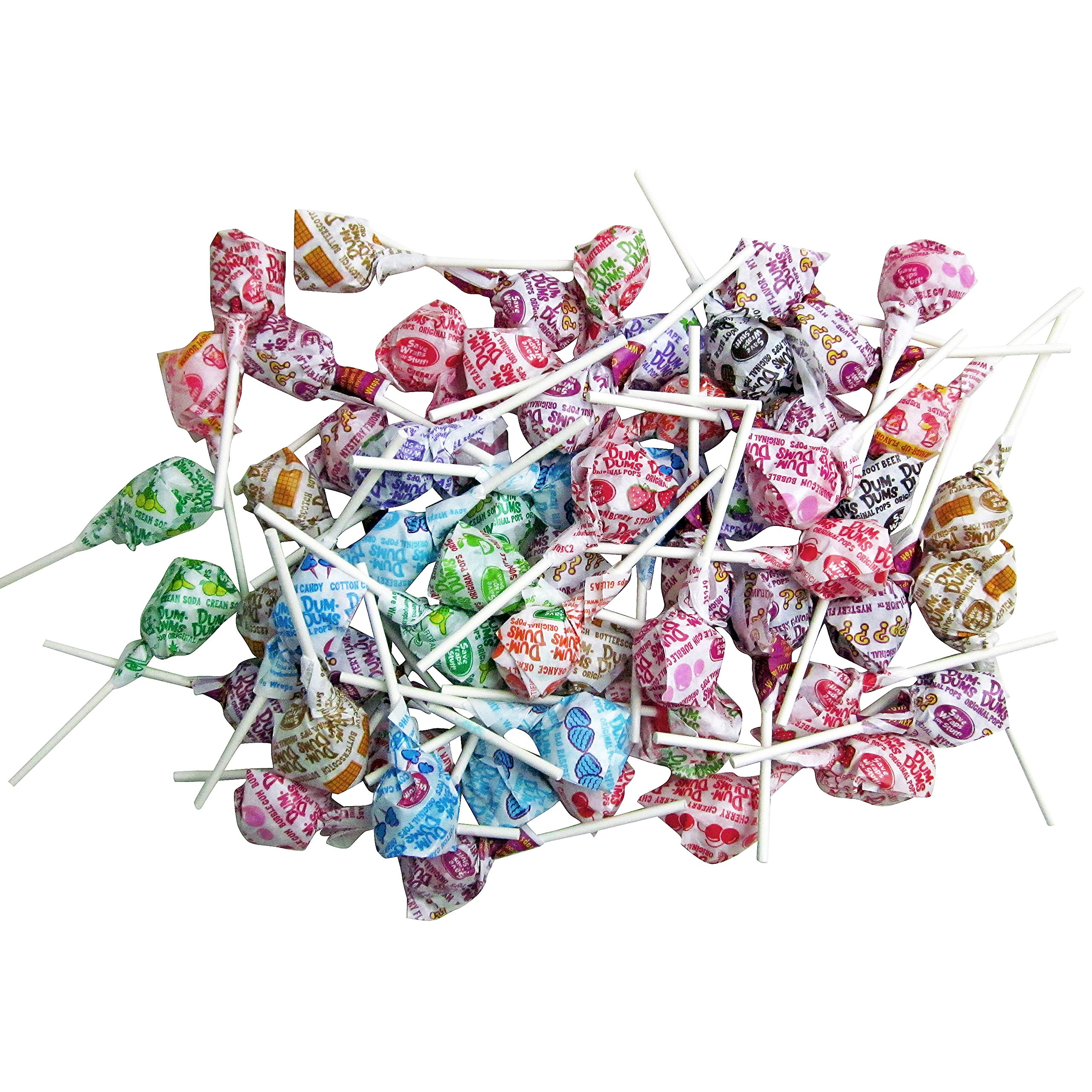 Dum Dums Pops by Spangler, Assorted Flavors Lollipops in 6x6x6 Box Bulk Candy, 2.4 lbs. - 38 oz. by Dum Dums (Image #4)