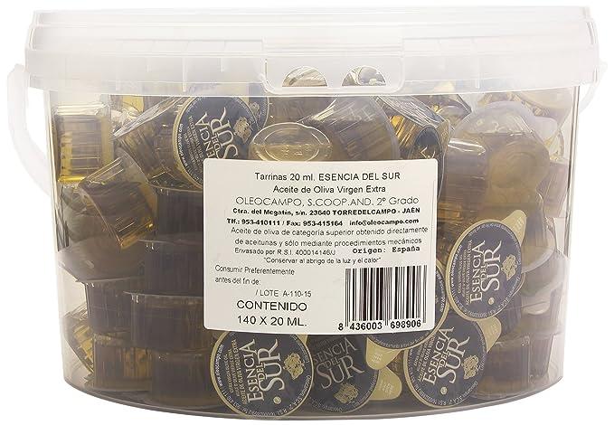 Esencia del Sur - Aceite de oliva virgen extra - 140 tarrinas de 20 ...