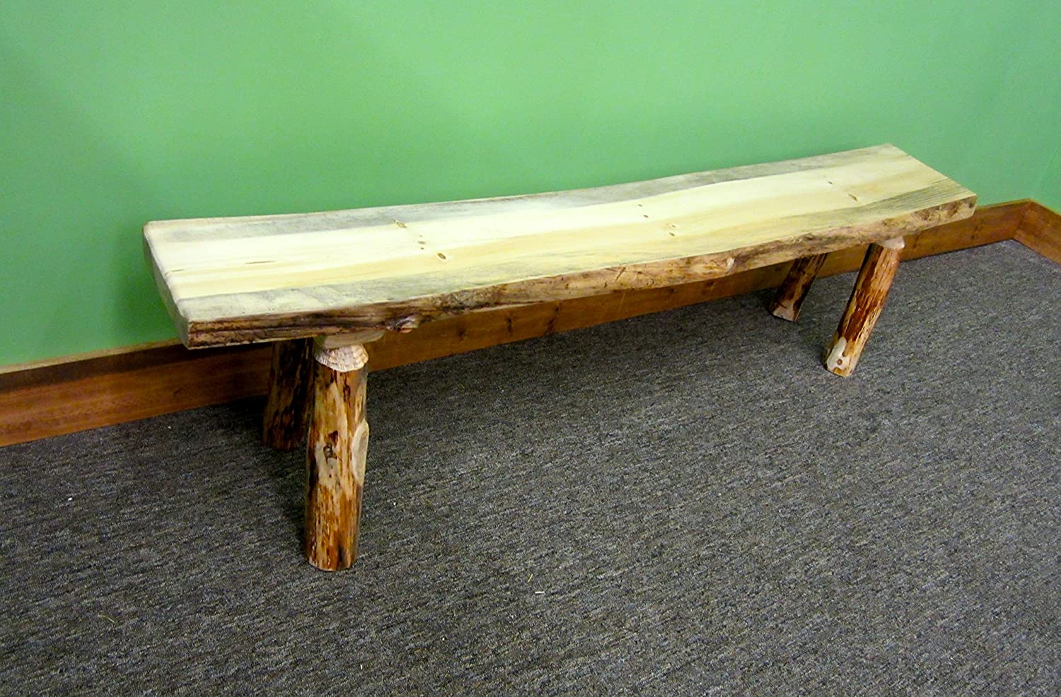 Brilliant Midwest Log Furniture Rustic Log Bench Machost Co Dining Chair Design Ideas Machostcouk