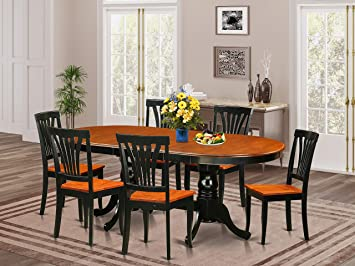 Amazon Com 7 Pc Dining Room Set Dining Table With 6 Dining Chairs Furniture Decor