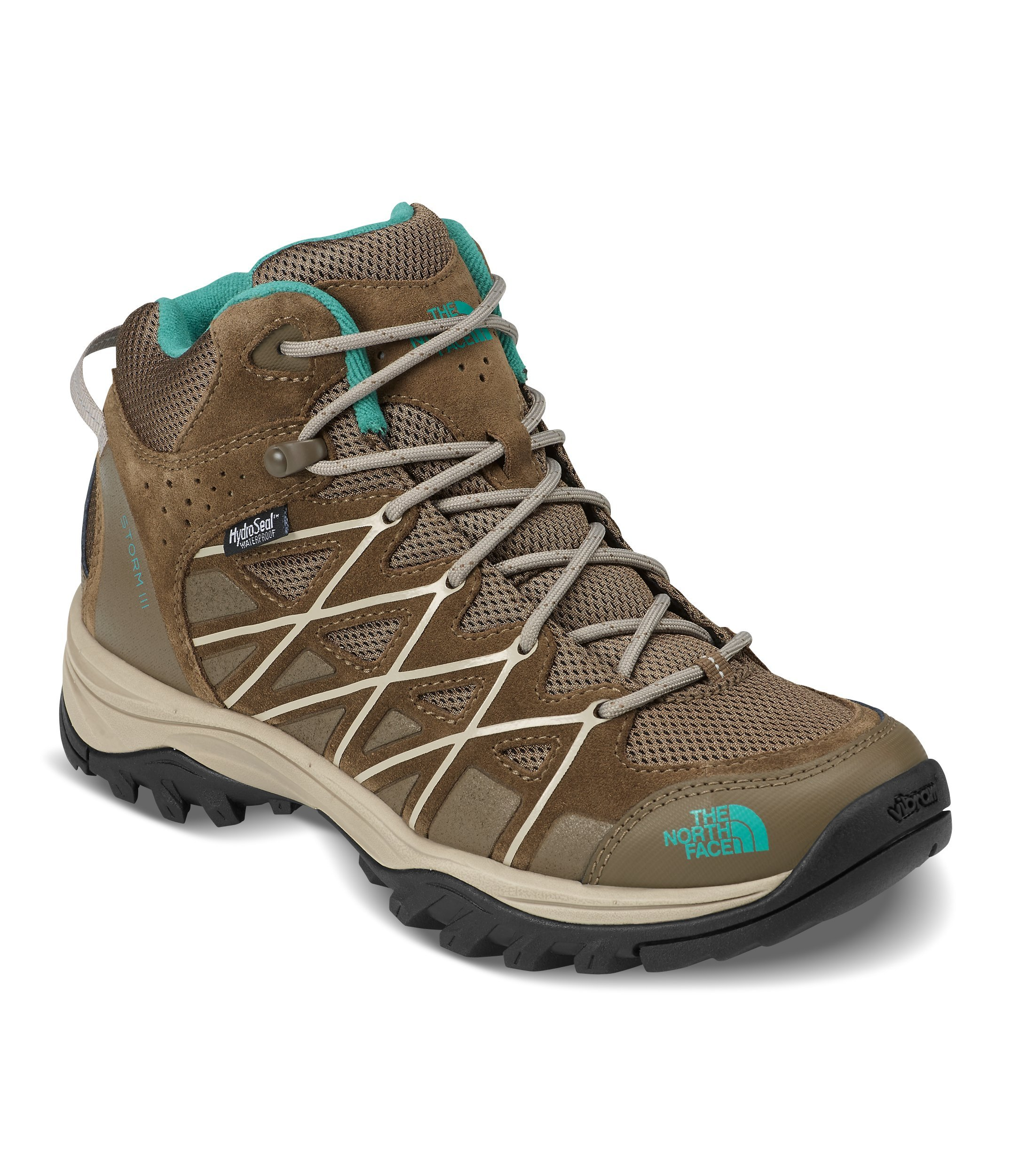 The North Face Women's Storm III Mid Waterproof Hiking Shoes - Cub Brown and Crockery Beige - 6.5
