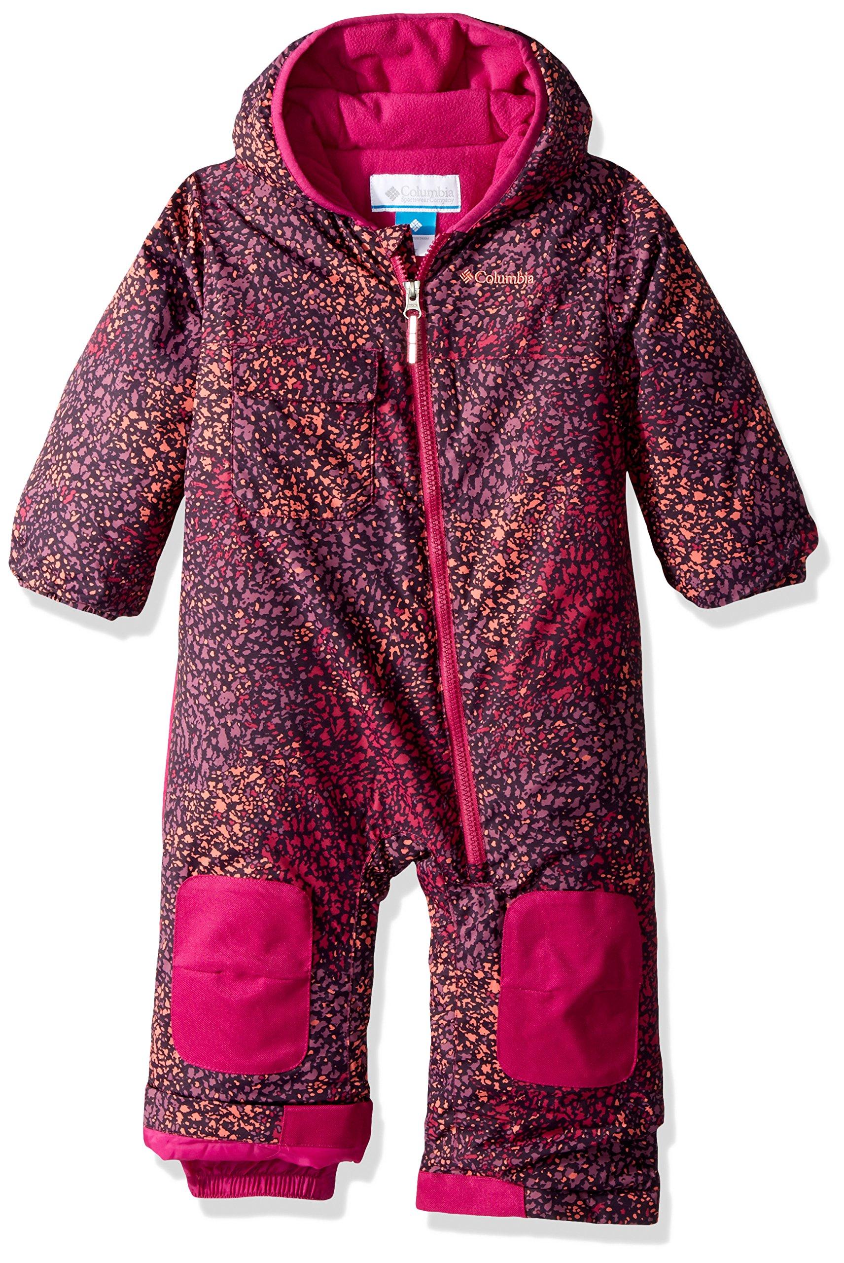 Columbia Toddler Boys' Hot-Tot Suit, Deep Blush Snow Splatter, 3T