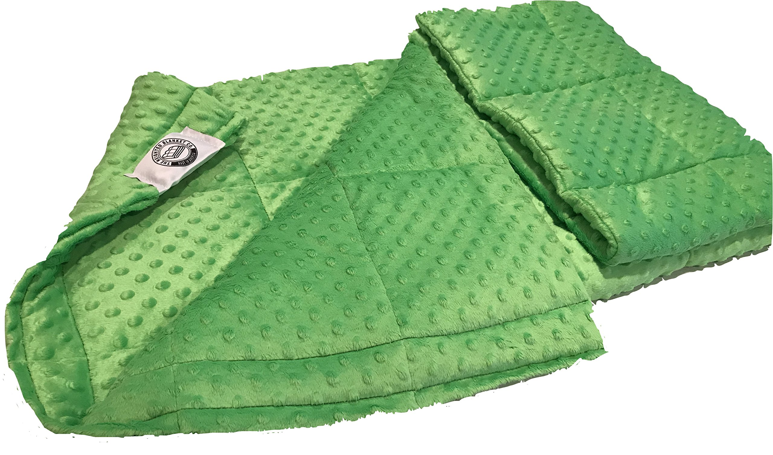 Ultra-Soft Lime Minky Weighted Sensory Blanket -8lb 36x48