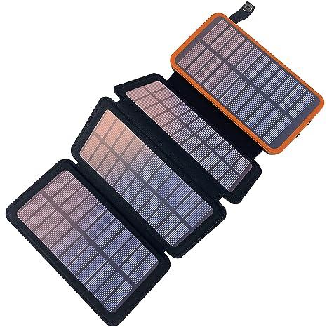 YELOMIN - Cargador Solar portátil con 4 Paneles solares ...