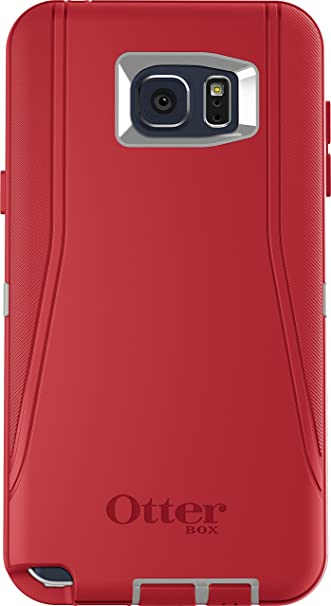 huge discount ab650 65cd2 OtterBox Defender Cell Phone Case for Samsung Galaxy Note5 - Retail  Packaging - Fire Within (Sleet Grey/Scarlet Red) -