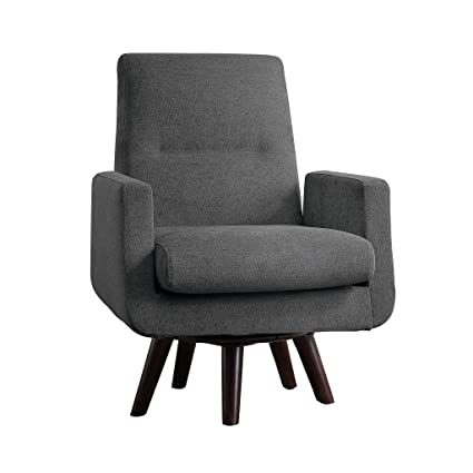 Prime Amazon Com Homelegance Ameillia Fabric Swivel Accent Chair Pabps2019 Chair Design Images Pabps2019Com