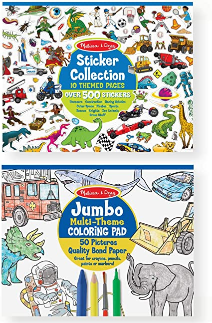 Blue Melissa /& Doug Sticker Collection