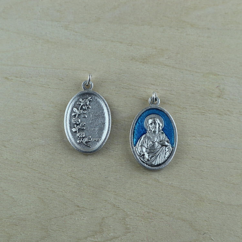 Eurofusioni Medalla chapeada Plata Sagrado Corazón de Jesús - 10 Piezas