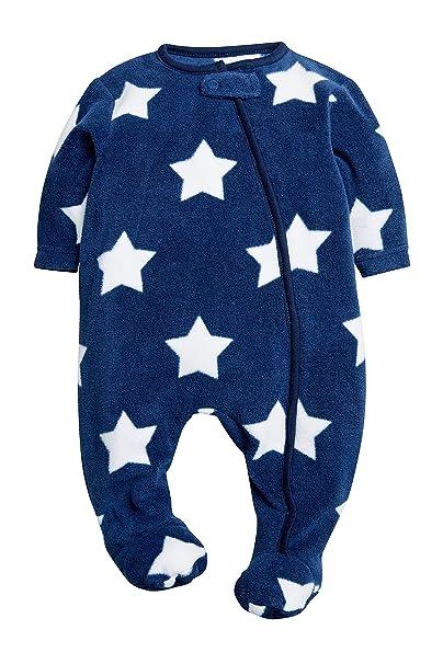 next Bebé Niño Pijama Polar Tipo Pelele con Estrella (0 Meses - 3 Años) Azul Marino 2-3 Meses: Amazon.es: Ropa y accesorios