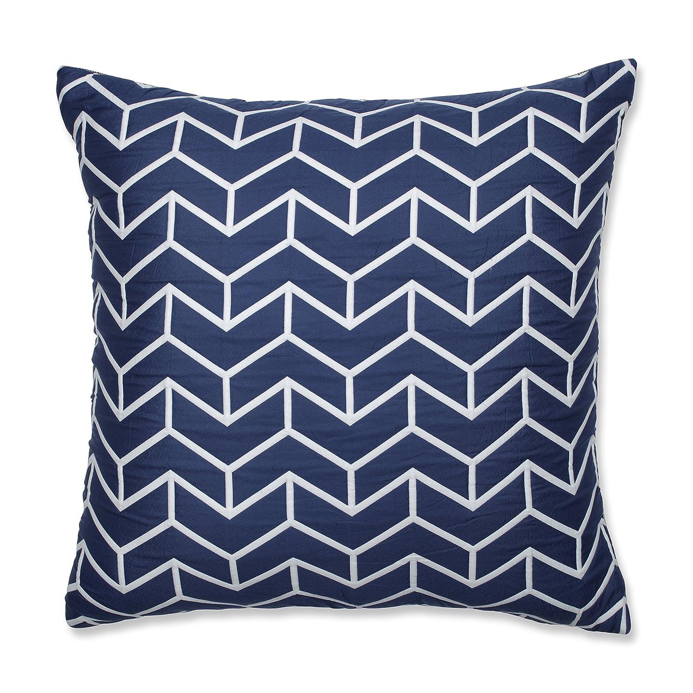Pillow Perfect ウィングチップ ネイビーフロアピロー 長さ×24.5インチ 幅5インチ D、ブルー B07DGLRSBW
