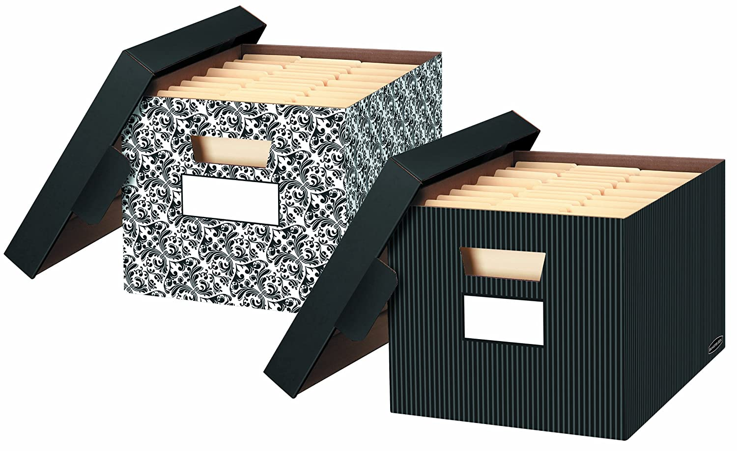 Amazing Amazon.com : Bankers Box Store/File Decorative Storage Boxes, Letter/Legal,  10 X 12 X 15 Inches, Pinstripe, 4 Pack (0029803) : Office Products