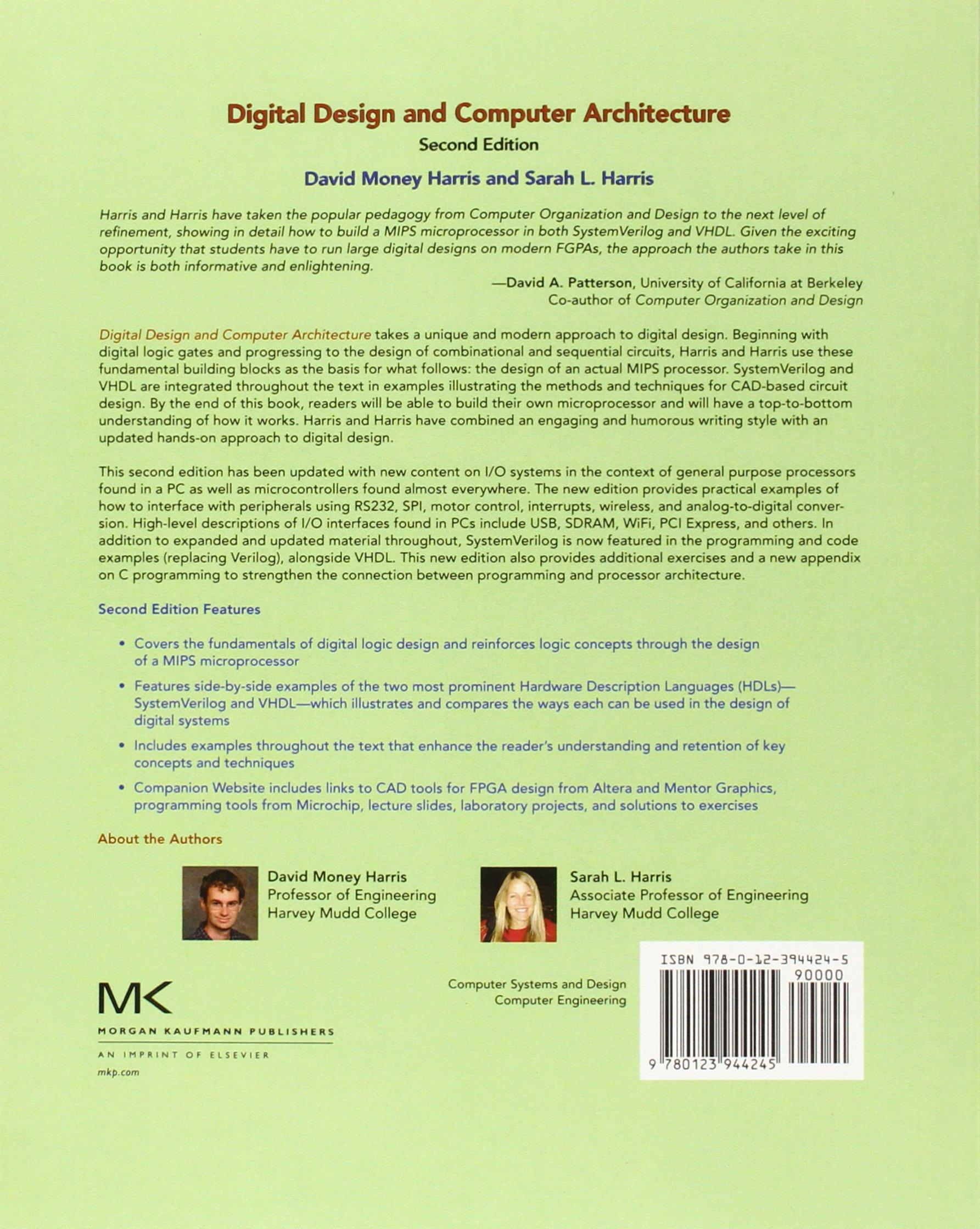 Digital Design And Computer Architecture | Digital Design And Computer Architecture Amazon Co Uk David