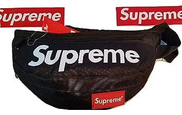 57753247de4 Amazon.com | Supreme Fanny Bag Pack Waist Shoulder Style Classic Box Logo  (Black) | Waist Packs