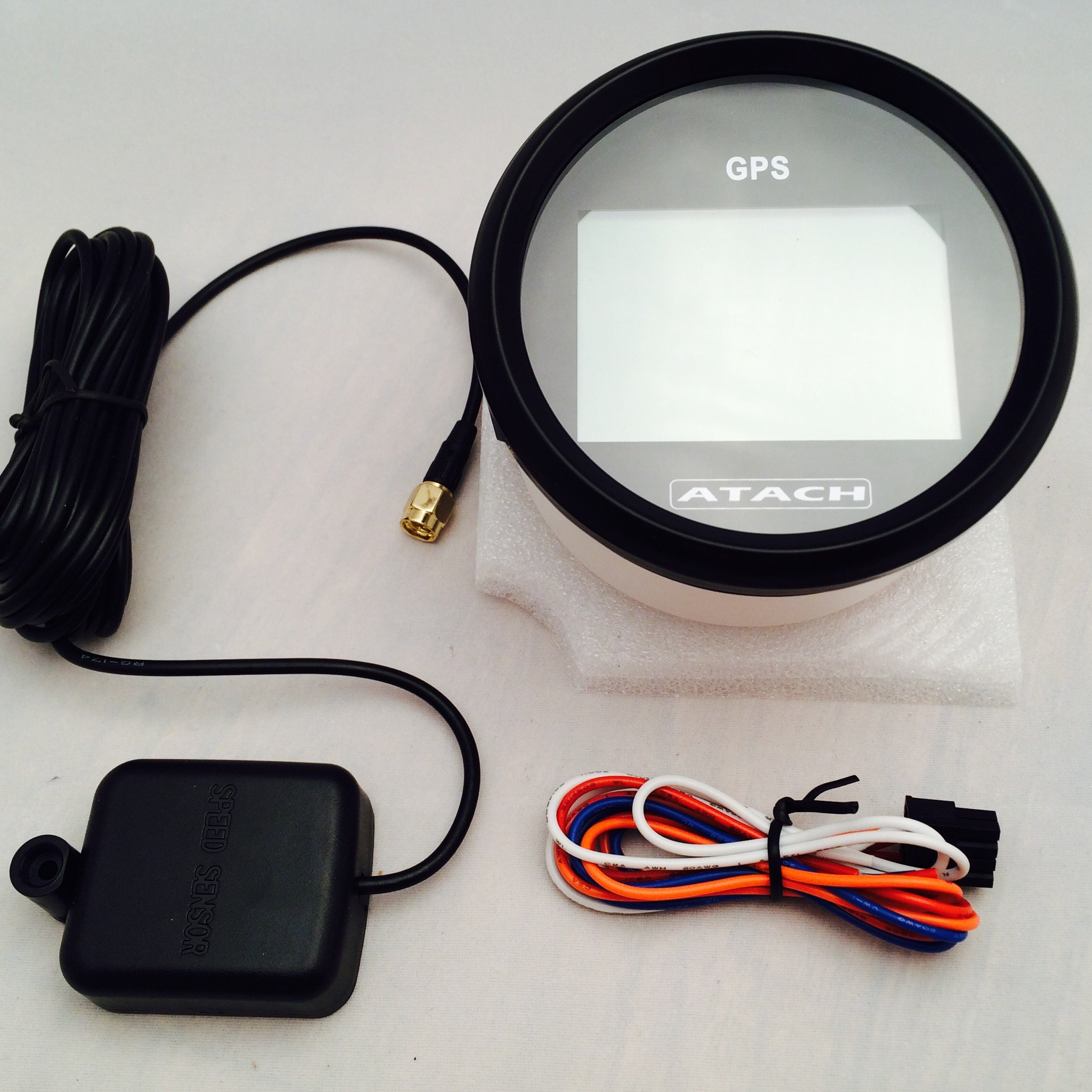 AndyTach 3-3/8'' ATACH DIGITAL GPS speedometer with high speed recall (BLACK/BLACK BEZEL) by AndyTach (Image #2)