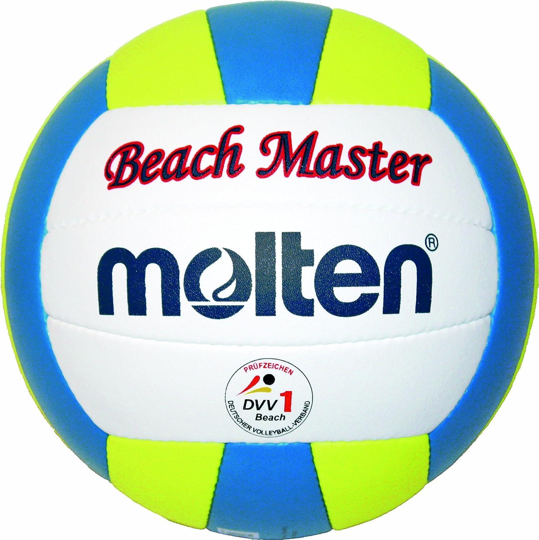 MOLTEN MBVBM - Balón de volley playa (talla 5), color blanco, amarillo y azul