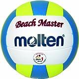Molten MBVBM Ballon de beach-volley BLANC/JAUNE/BLEU Taille 5