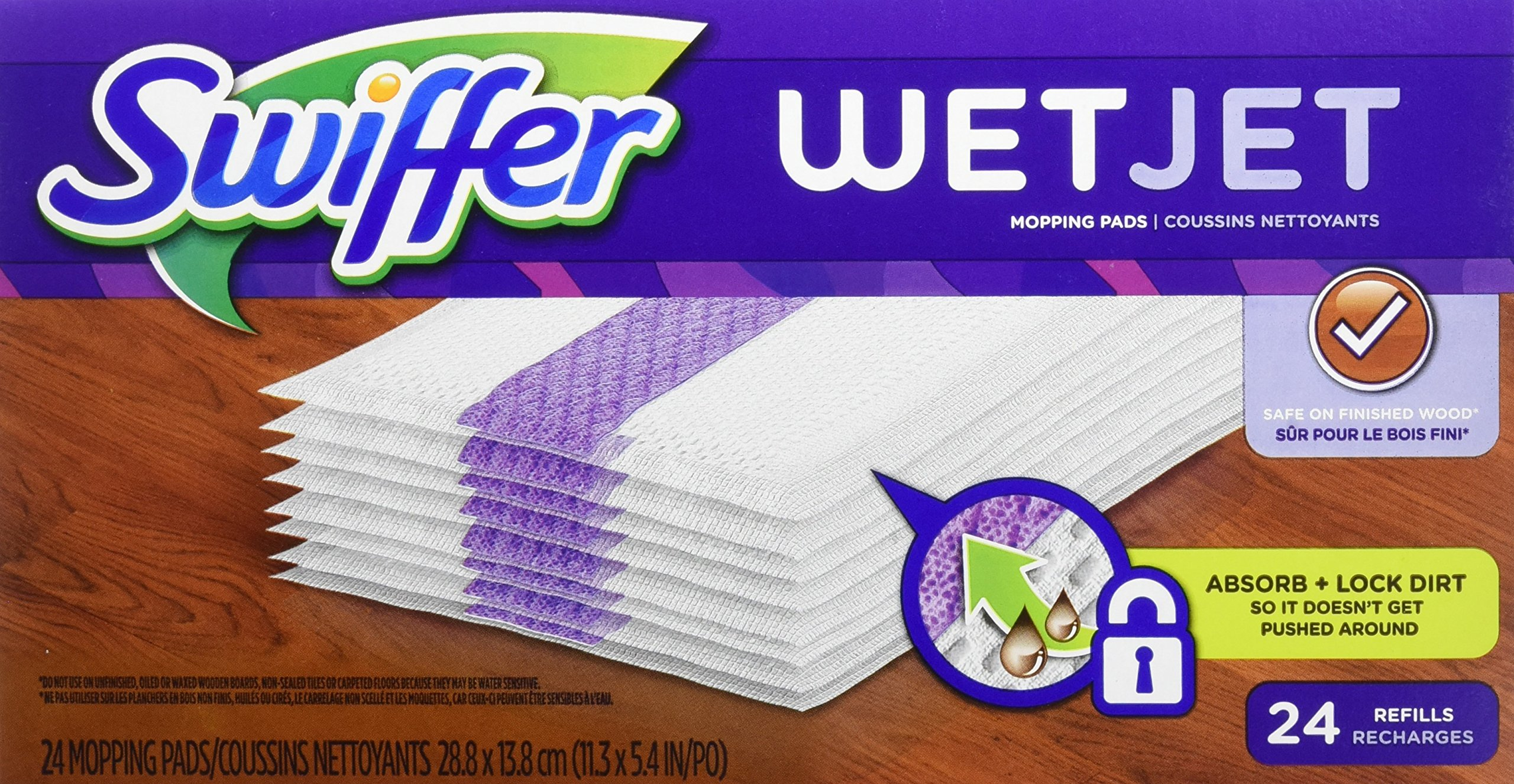 Swiffer WetJet Spray Mop Floor Cleaner Pad Refills, 24-Count (Pack of 2) (Packaging May Vary) by Swiffer