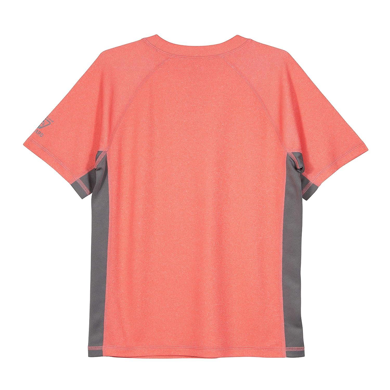 UPF 50+ LAGUNA Boys Crewneck Short Sleeve Loose Fit Rashguard Swim Sun Tee Shirt