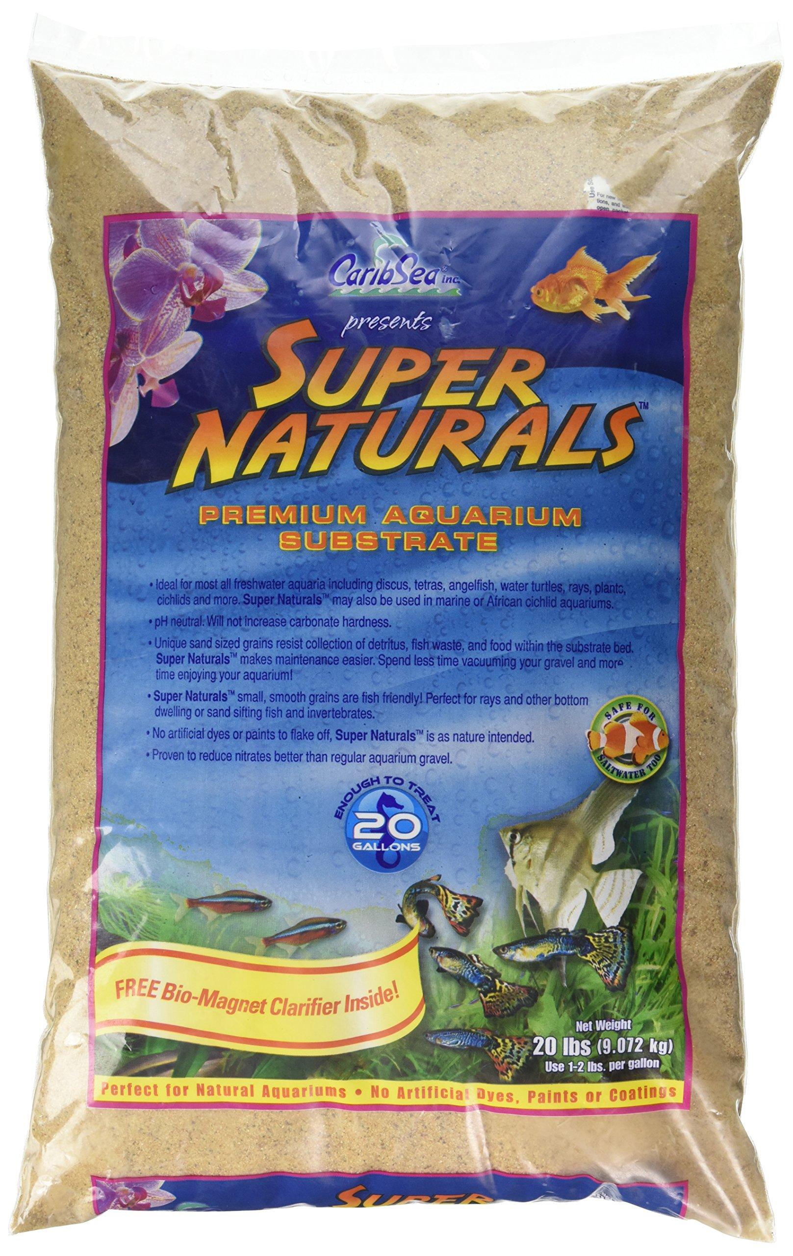 Caribsea Super Naturals Aquarium Sand, 20-Pound, Sunset Gold by Carib Sea (Image #1)