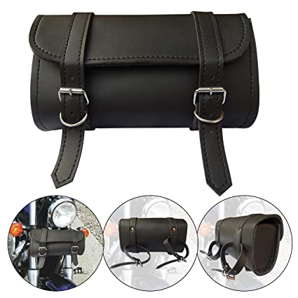 Motorcycle Tool Bag >> Ard Champs Motorcycle Tool Bag Handlebar Saddle Bag Pu Leather Storage Tool Pouch 2 Strap Closure
